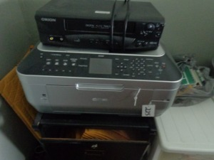Canon copier and VHS player