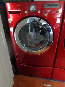 LG front-load washer w/bottom storage