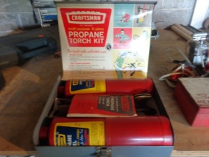 Craftsman propane torch set in case