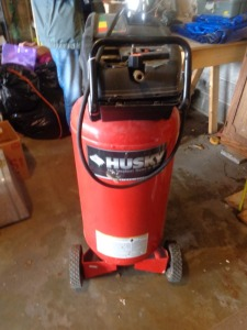 Huskee air compresssor, 26 gallon, 1.7 hp, 120 volt