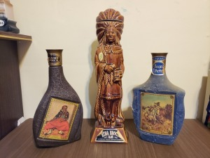 (3) Vintage 1968 Liquor Bottles - Chief And Beam