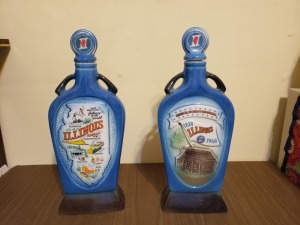 (2) Vintage 1968 Liquor Bottles - Illinois Jim Beam
