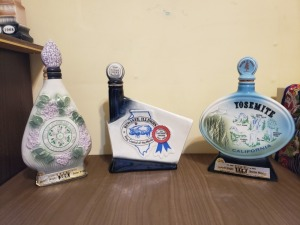 (3) Vintage Liquor Bottles - Yosimite, Kewanee, And Village Of Lombard