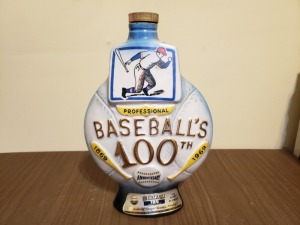 (1)  1969 Liquor Bottle - Baseball's 100th Anniversary