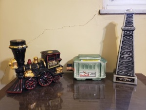 (3) Vintage Liquor Bottles - Ezra And Jim Beam Train Lot