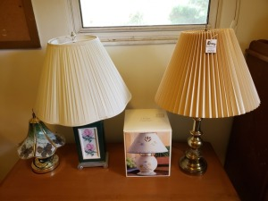 (4) Assorted Lamps