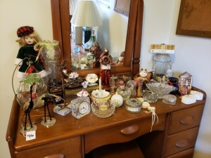 Home Décor Lot - Figurines, Clocks And Candle Holders