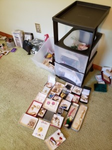 Organizer With Assorted Jewelry Lot
