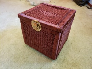 Dual Opening Wicker Basket Lot