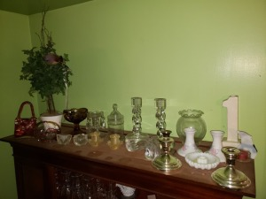 Decorative Glass And Candle Holders Lot