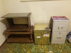 END TABLE CHEST AND FILE CABINET LOT