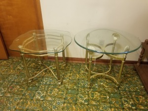 GLASS END TABLE LOT
