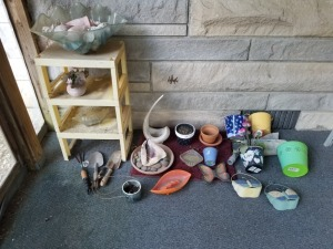 FLOWER POT SHOVELS SHELLS LOT