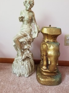 HEAVY LAWN OR INDOOR STATUE LOT
