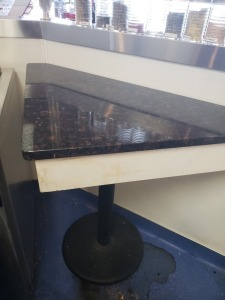 Triangle Granite Top Table