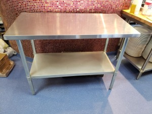 4 FT x 2 FT Stainless Prep Table