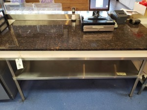 6 FT Stainless Table With Granite Top