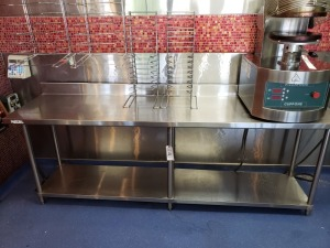 (1) 8 FT x 2 FT Stainless Prep Table