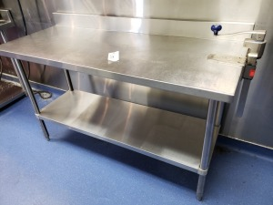 (1) 5 FT x 2 FT Stainless Prep Table With Can Opener