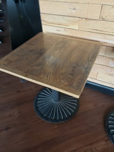 (1) 2.5 FT x 2.5 FT Table Faux Wood Top