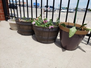 Outdoor Pots Lot