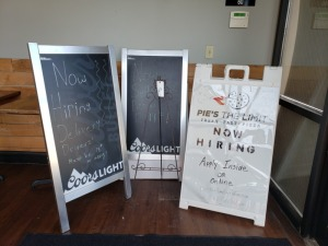 Double Sided and Chalk Board Signs Lot