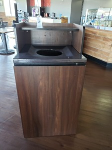 (1) 4 FT x 2 FT Trash Receptacle