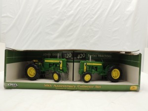 1/16th RC2 John Deere 50th Anniversary Collector Set of (2)-wide front tractors