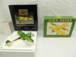 (2)-First Gear/Spec Cast  John Deere Limited Edition airplanes
