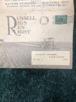 "The ""Russell"" 30-60 HP Gas Tractor and Birdsell Huller Fold Out Post Card - 2"