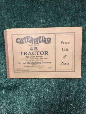 Caterpillar 45 Tractor Price List of Parts