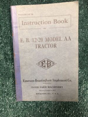 E.B. 12-20 Model AA Tractor Instruction Book