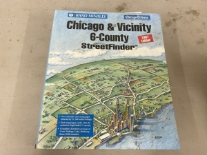 RAND MCNALLY CHICAGO & VICINITY 6-COUNTY STREETFINDER 1997 EDITION