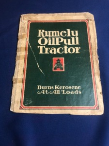 Rumely OilPull Tractor. Sales Catalog