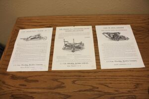 (3) Case Threshing Machine Company Spec Sheets and Reference Sheets