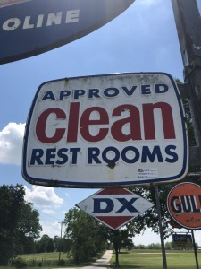 Clean Restroom Sign