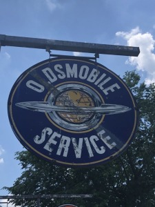 Oldsmobile Service Station ID Sign