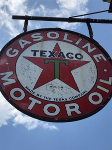 Texaco Gasoline Motor Oil Sign