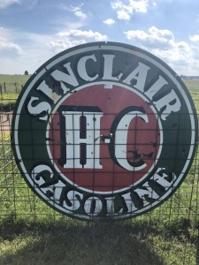 Sinclair H-C Gasoline Station ID Sign