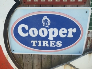 Cooper Tires advertising sign