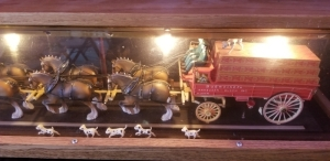 "Anheuser-Busch Inc. Clydesdale Lighted Display case 35"" x 7"""