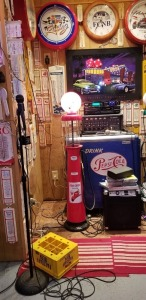 Fire Chief Texaco Gasoline Pump Lights up