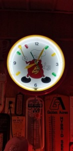 Jelly Belly Neon and Clock