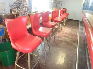(8) Red Bar Stools