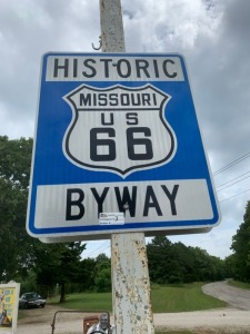 Historic US 66 Byway Road Sign x 2