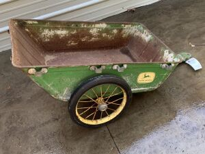 John Deere 4 legged deer Early Lawn and Garden Dump Cart