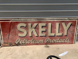 Skelly Petroleum Products Tin Sign