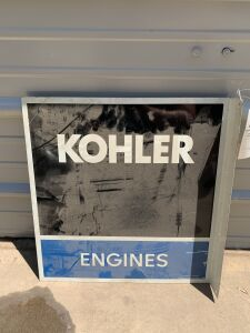 Kohler Engine 2 sided flange tin sign
