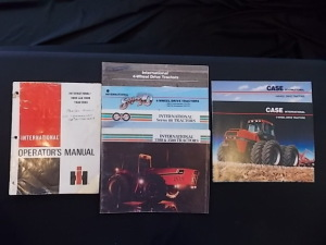 Literature Lot (7) International 4-wheel drive tractor booklets and Operator's Manual