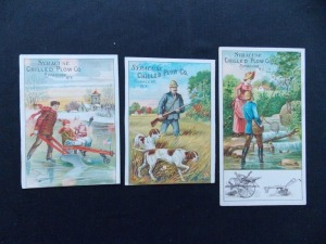 Syracuse Chilled Plow Trade Cards Lot (3)